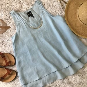 Nic + Zoe Chambray Sleeveless Tunic Top Size Small